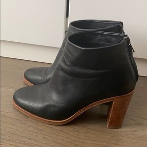 APC Black Leather Ankle Boots